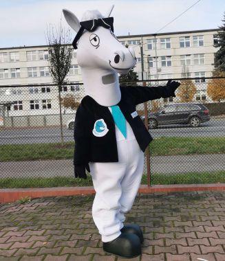 Stylowe kostiumy na zamówienie Elabika nigdy nie wyglądały tak wytwornie. Koń
