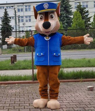 Kostiumy reklamowe Elabika, a szokująca maskotka przebranie Chase. Pies