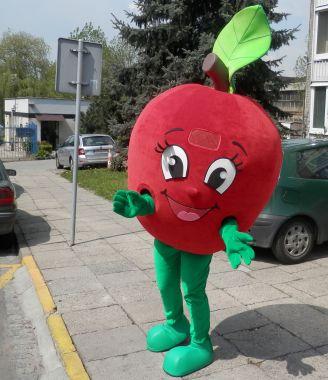 Nasza rada jak promować owoce! Stroje reklamowe Elabika. Jabłko