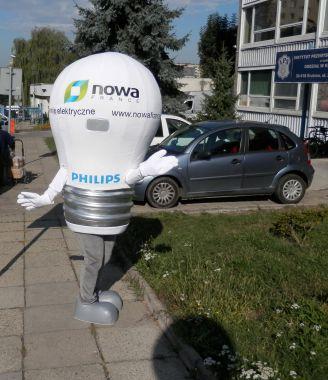 Elabika stroje reklamowe najbliżej Klienta, czyli Żarówka Nova France